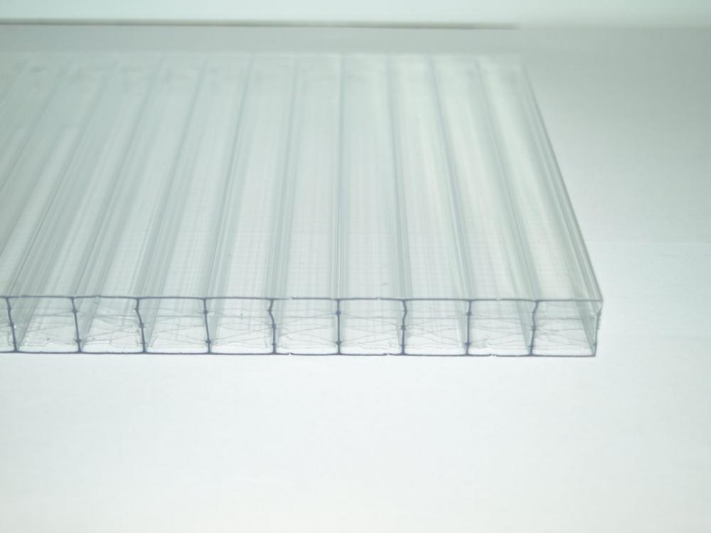 Doppelstegplatte Stegplatte Hohlkammerplatte St/ärke 16 mm Farbe Glasklar Material Acrylglas Breite 980 mm
