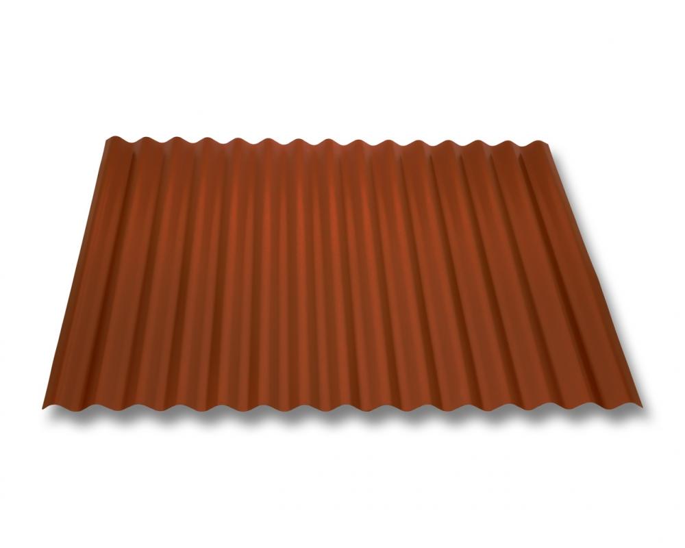 Beschichtung 35 /µm Profil PS20//1100TRA St/ärke 0,50 mm Profilblech Trapezblech Farbe Ziegelrot Material Stahl Dachblech