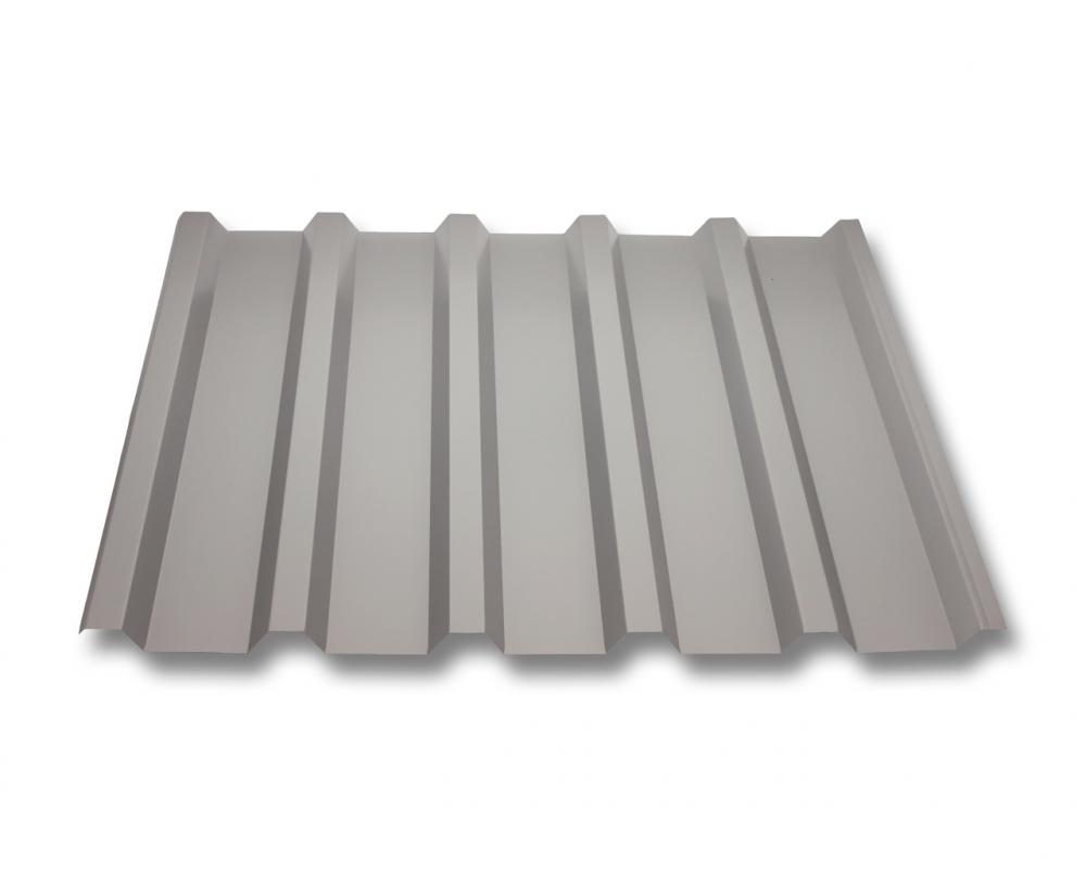 St/ärke 0,70 mm Dachblech Profil PA18//1064CR Material Aluminium Farbe Wei/ßaluminium Wellblech Profilblech Beschichtung 25 /µm