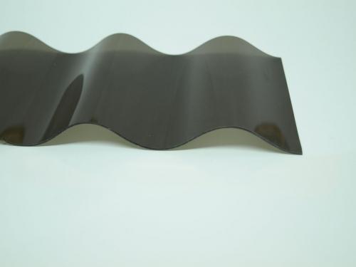 lichtplatte pvc 76 18 sinus unstrukturiert 1 2 mm bronze. Black Bedroom Furniture Sets. Home Design Ideas