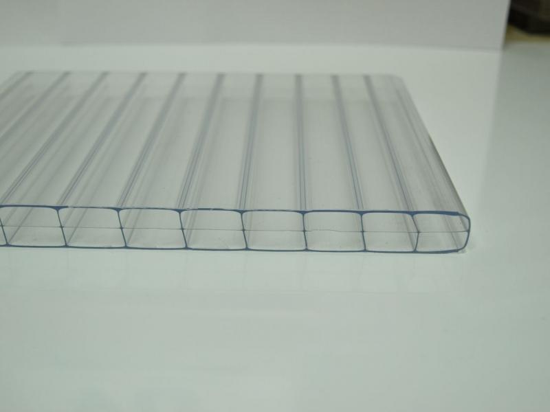 stegdreifachplatte polycarbonat 98cm breite 16mm glasklar. Black Bedroom Furniture Sets. Home Design Ideas