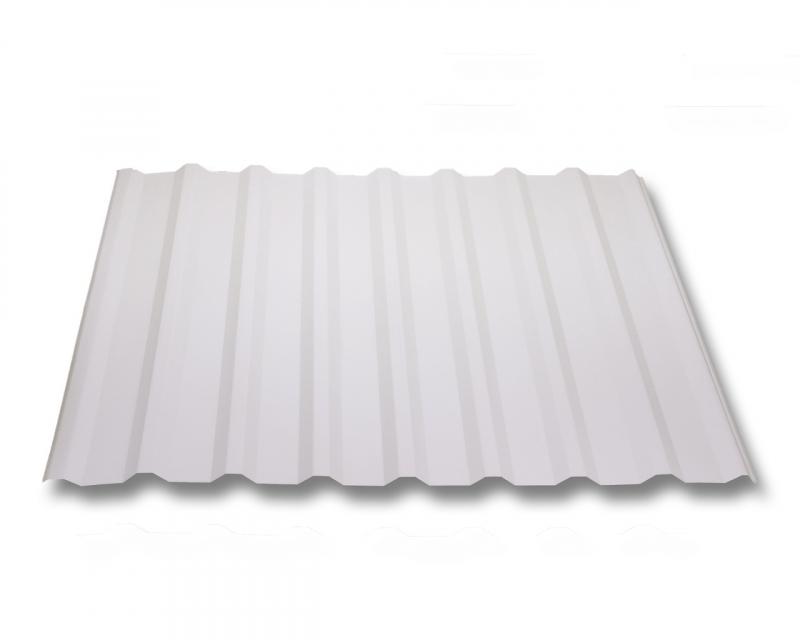 trapezblech w20 1100 stahl 0 5mm erh ltlich als dachblech dachblech mit antitropf und wandblech. Black Bedroom Furniture Sets. Home Design Ideas