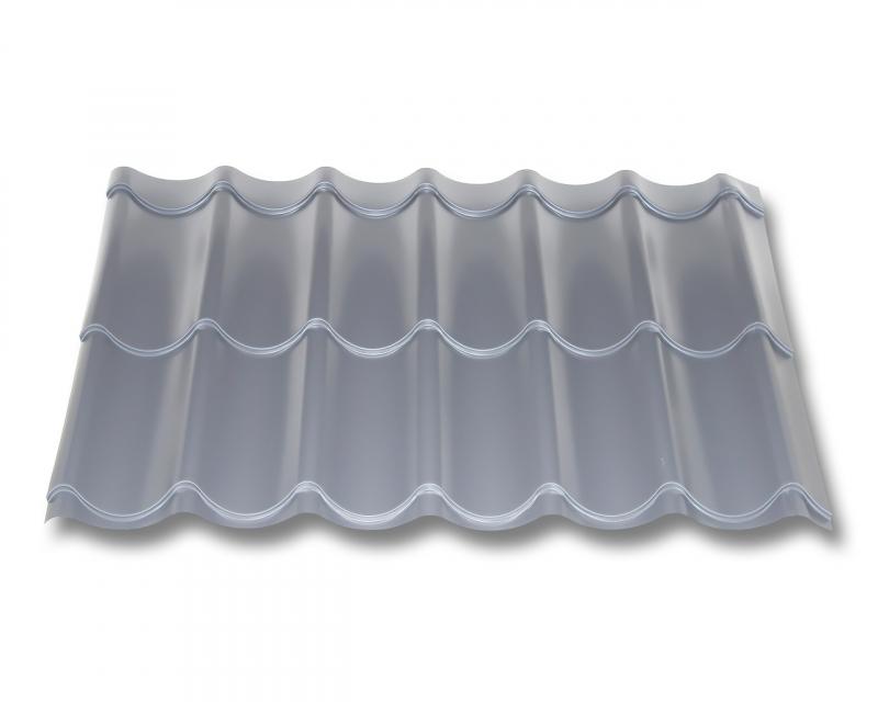 Trapezblech St/ärke 0,50 mm Beschichtung 25 /µm Farbe Wei/ßaluminium Dachblech Material Stahl Profilblech Profil PS35//1035TRA