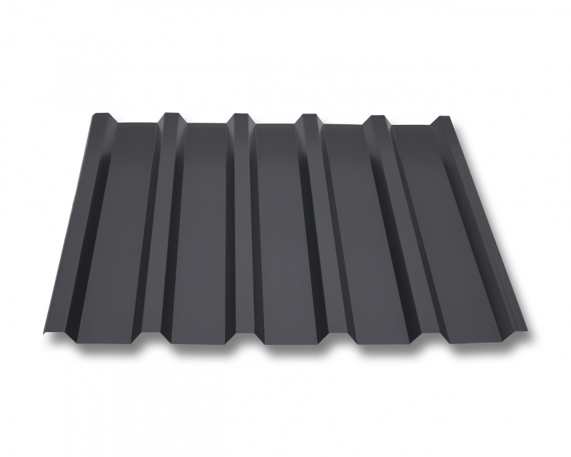 trapezblech w35 207 stahl 0 40mm erh ltlich als dachblech dachblech mit antitropf und wandblech. Black Bedroom Furniture Sets. Home Design Ideas