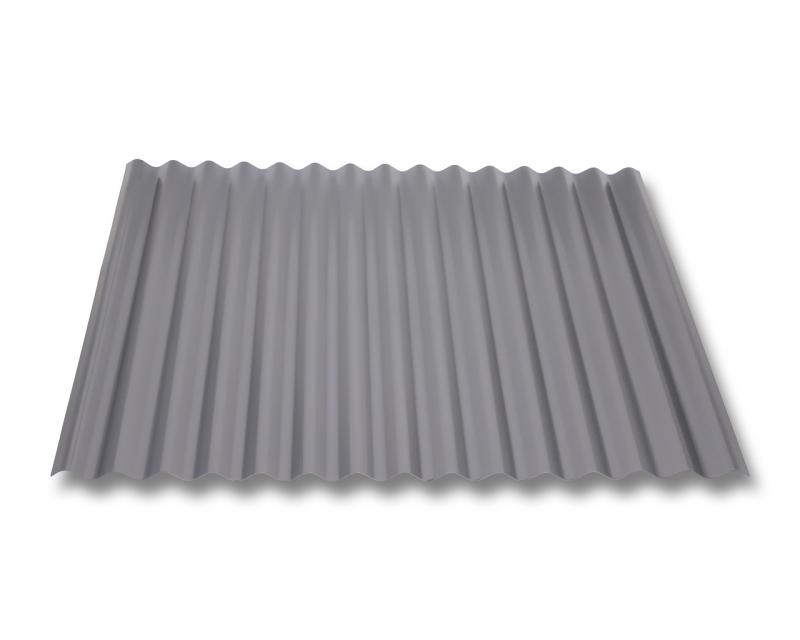 wellblech w1 1064 aluminium 0 7mm 25 m graualuminium. Black Bedroom Furniture Sets. Home Design Ideas