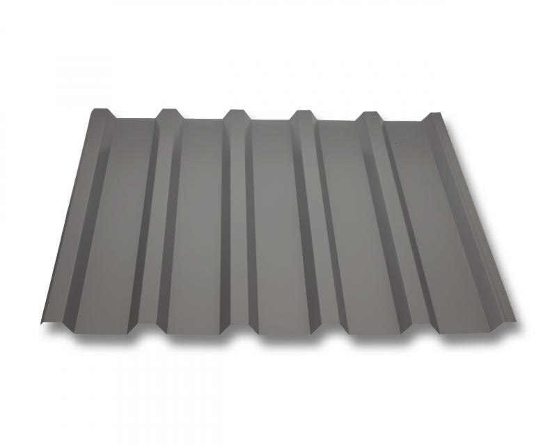 trapezblech w35 207 dachplatten antitropf aluminium 0 70mm beschichtung 25 m graualuminium. Black Bedroom Furniture Sets. Home Design Ideas