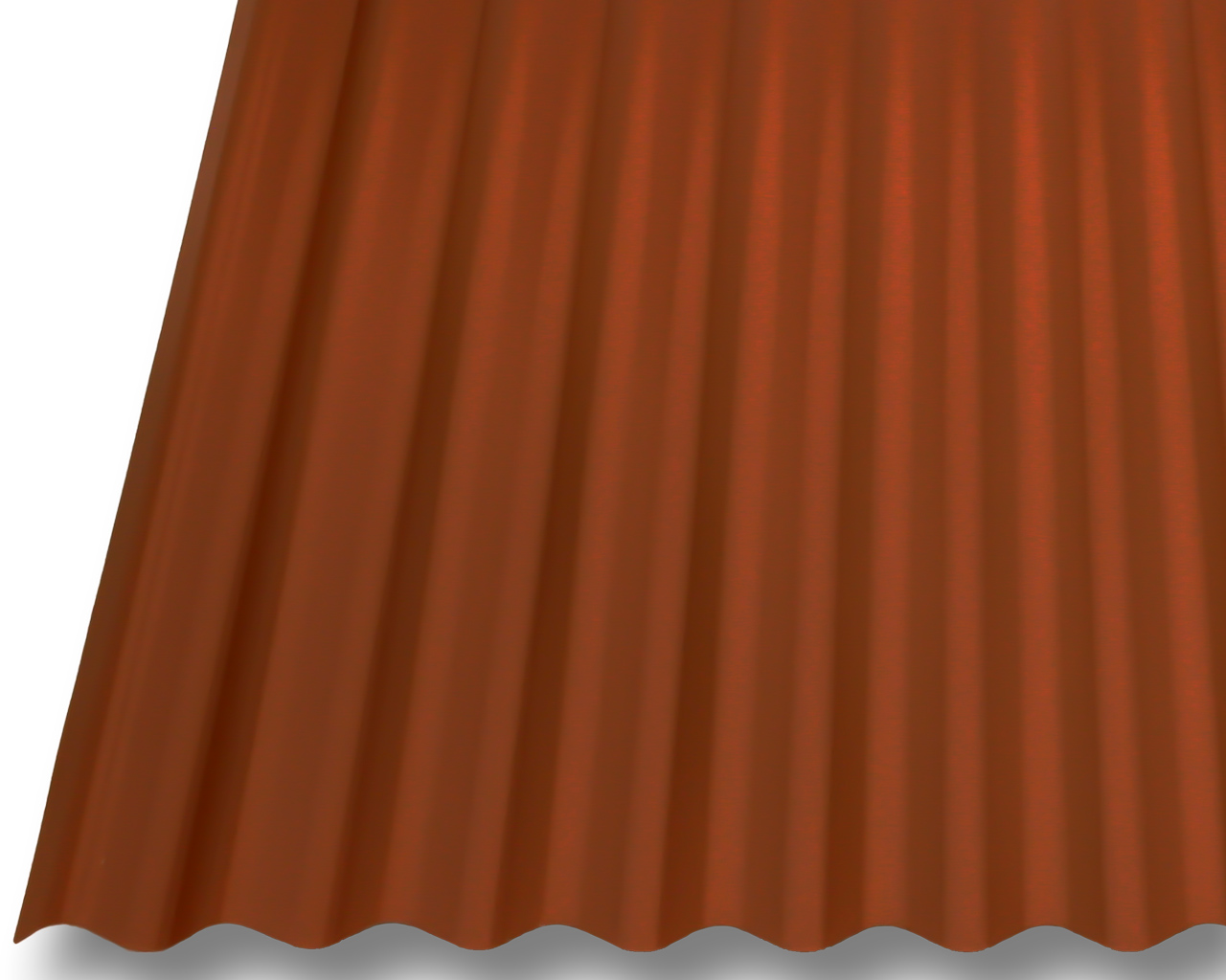 wellblech wellplatten dachplatten stahl 0 63mm dach 25 m kupferraun antitropf ebay. Black Bedroom Furniture Sets. Home Design Ideas
