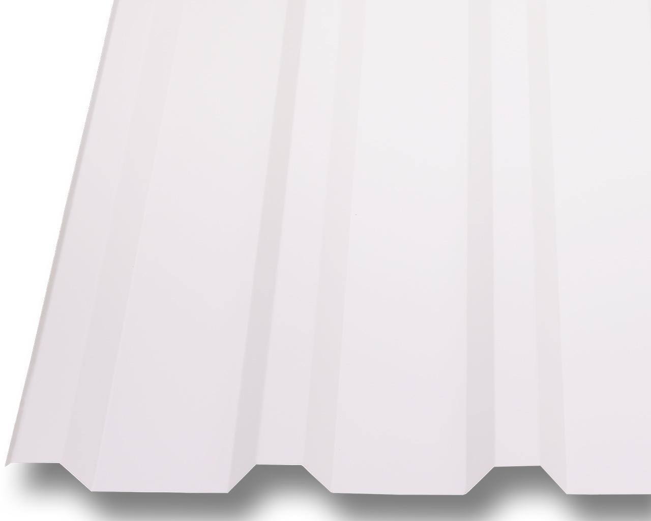 profilblech trapezblech dachplatten wellblech stahl neu 0 5mm dach 25 m wei ebay. Black Bedroom Furniture Sets. Home Design Ideas