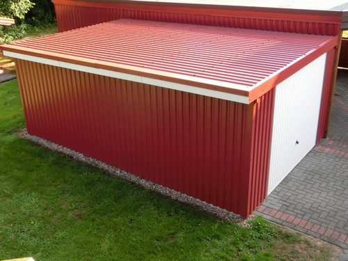 garage trapezblech nabcd. Black Bedroom Furniture Sets. Home Design Ideas